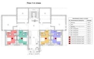 Поэтажный план и экспликация дома